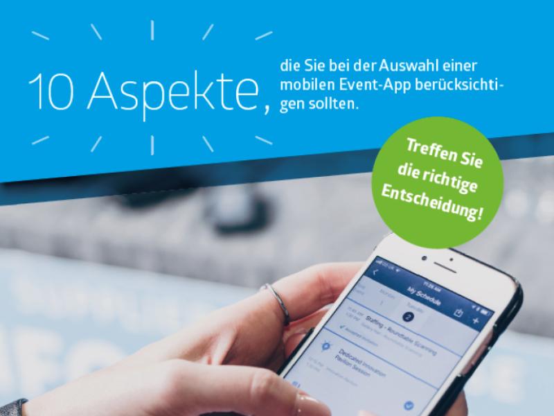 """Teaserthump für Whitepaper """"10 Aspekte, die Sie bei der Auswahl einer mobilen Event App beachten sollten"""""""
