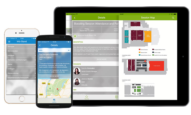 Event-Apps Orientieren